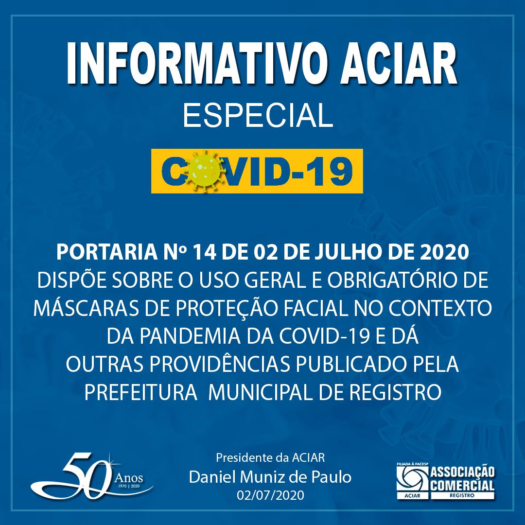 PORTARIA Nº 14 DE 02 DE JULHO DE 2020