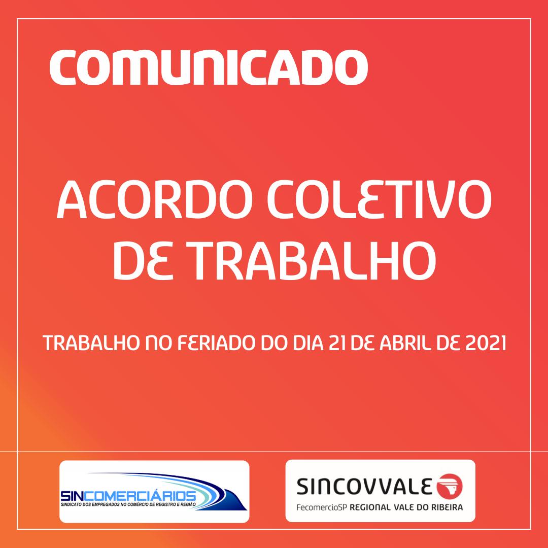 Minuta acordo coletivo 21 de Abril de 2021